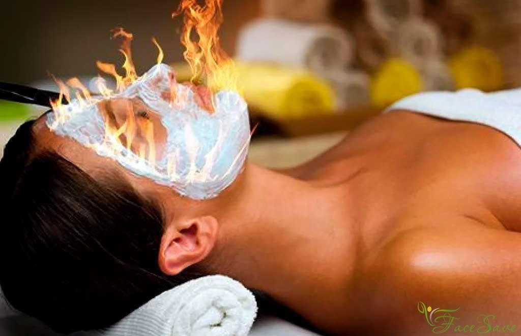 Огненный массаж для лица