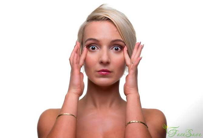 Упражнения отмешков иморщин под глазами