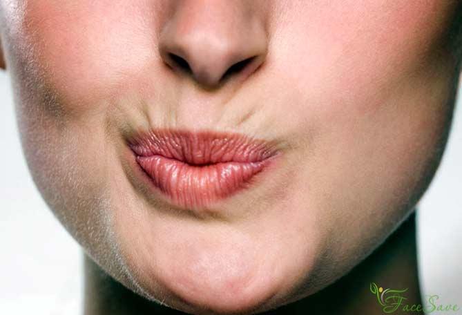 Упражнения против морщин наверхней губе
