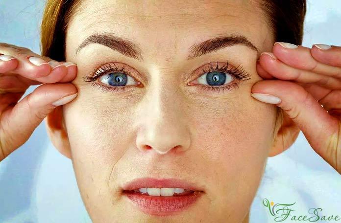 Массаж помогает при усталости глаз