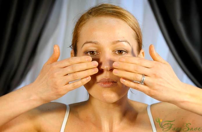 Массаж для укрепления овала лица и шеи