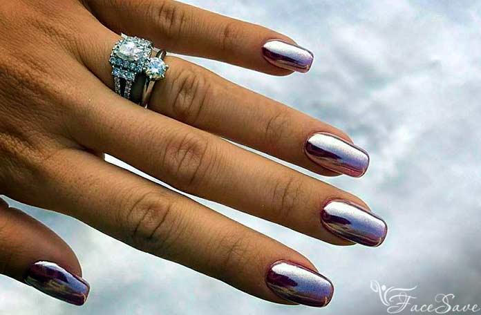 Платиновый лак для ногтей