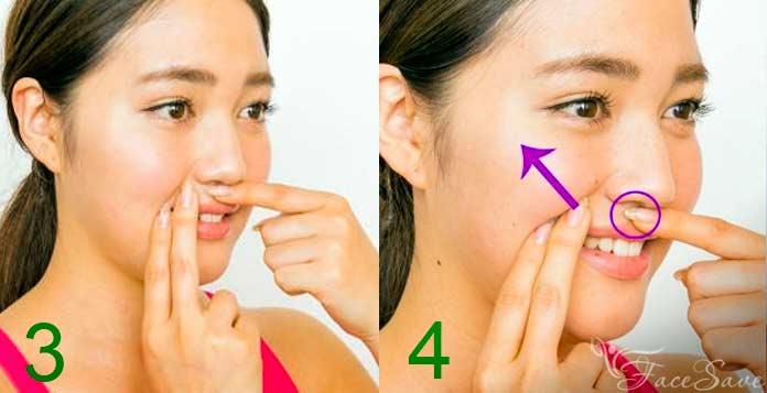 Точки для подтяжки щек