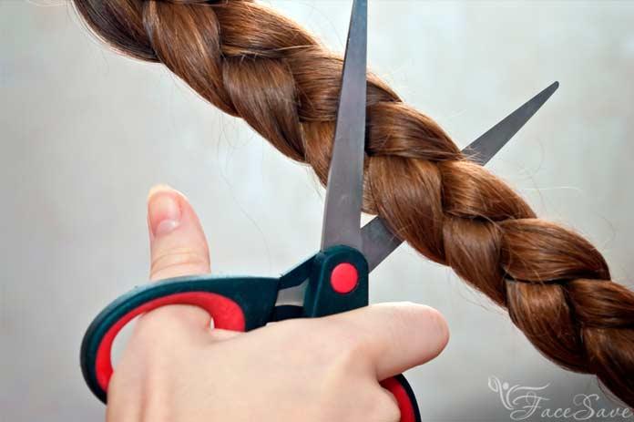 Обрезание косы