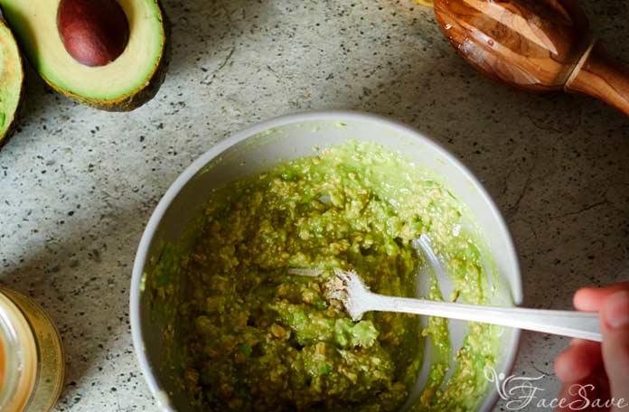 Маска с жожоба и авокадо