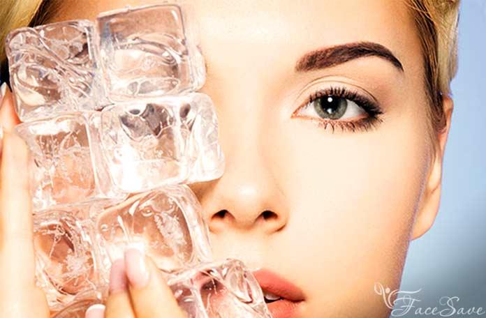 Лед от мешков под глазами