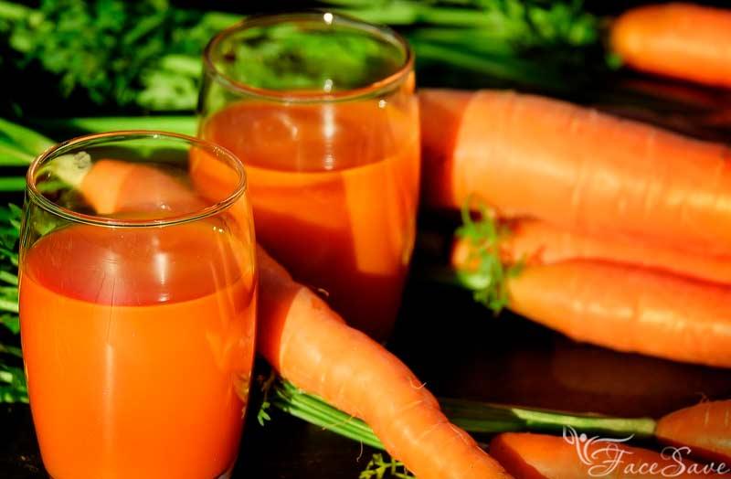 Маска с алоэ и морковью